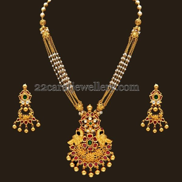 Small Basara Pearls Chains Pendant   Jewellery Designs