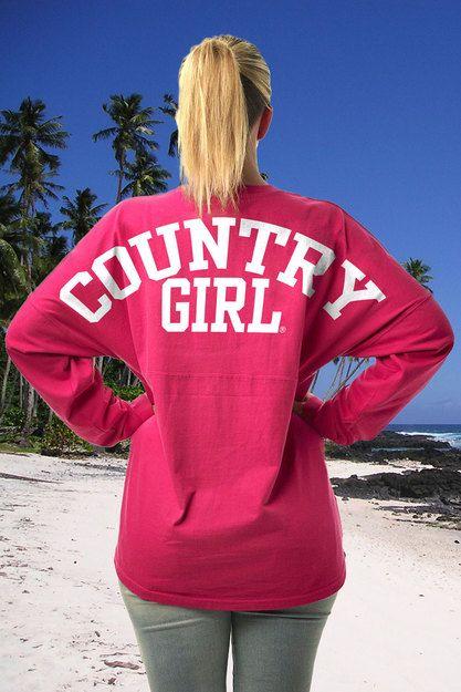 BACK VIEW - Wildberry -  Juniors Varsity Country Girls™ LS Spirit Tee