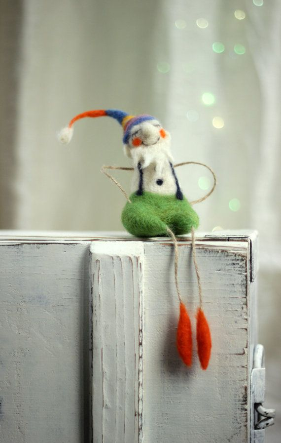 Needle Felt Dramy Crhistmas Elf Christmas by FeltArtByMariana
