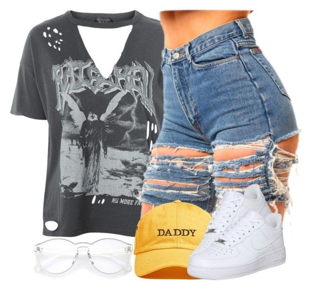 """""""6 24 17"""" by miizz-starburst ❤ liked on Polyvore featuring Topshop and NIKE"""