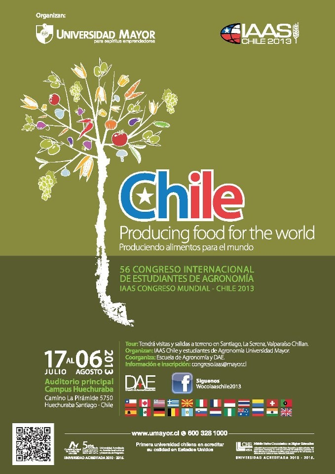 56° World Congress IAAS Chile  http://www.facebook.com/IAASWocoChile2013  #universidad #umayor #congreso