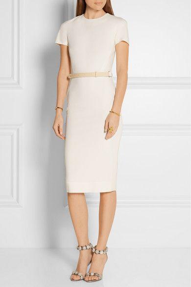 Wool-blend dress Victoria Beckham Buy Cheap Sast Jy5UDx0t
