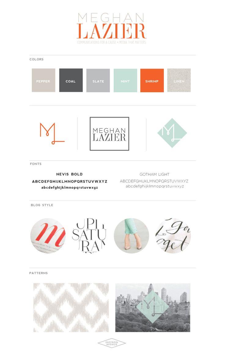 Meg Laz Brand Board - Saffron Avenue