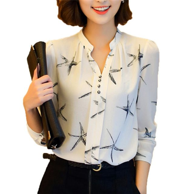 Fun Orange Hot Sale Summer New Arrival Female Long-Sleeve Blouse Women Shirt Chiffon Ruffle Tops Camisa Renda Blusa