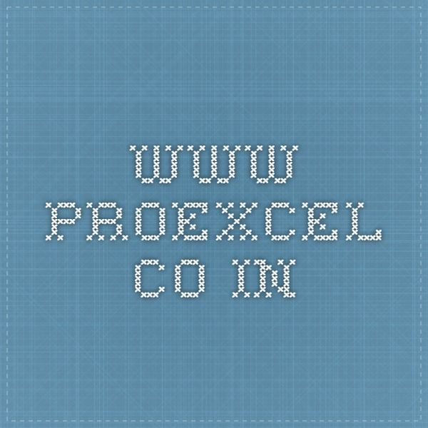 www.proexcel.co.in
