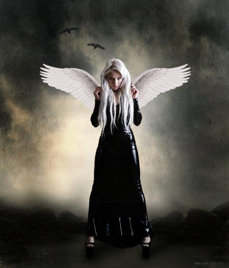 Картинки белого и черного ангела