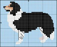 Collie/Sheltie tricolor knitting pattern