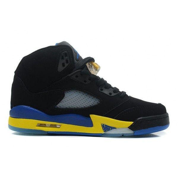 23d7e4ec8394 Buy Cheap Nike Air Jordan 5 Retro Suede Shanghai Shen Black Yell ...