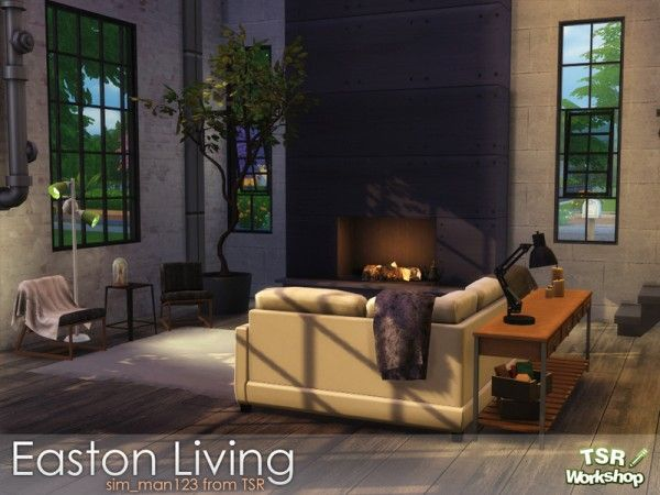 The Sims Resource: Easton Livingroom by sim_man123 • Sims 4 Downloads