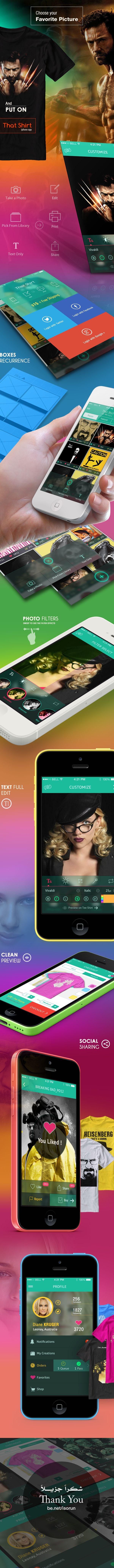 Shirt design app for iphone - Tee Shirt App Ios 7 By Yasser Achachi Via Behance