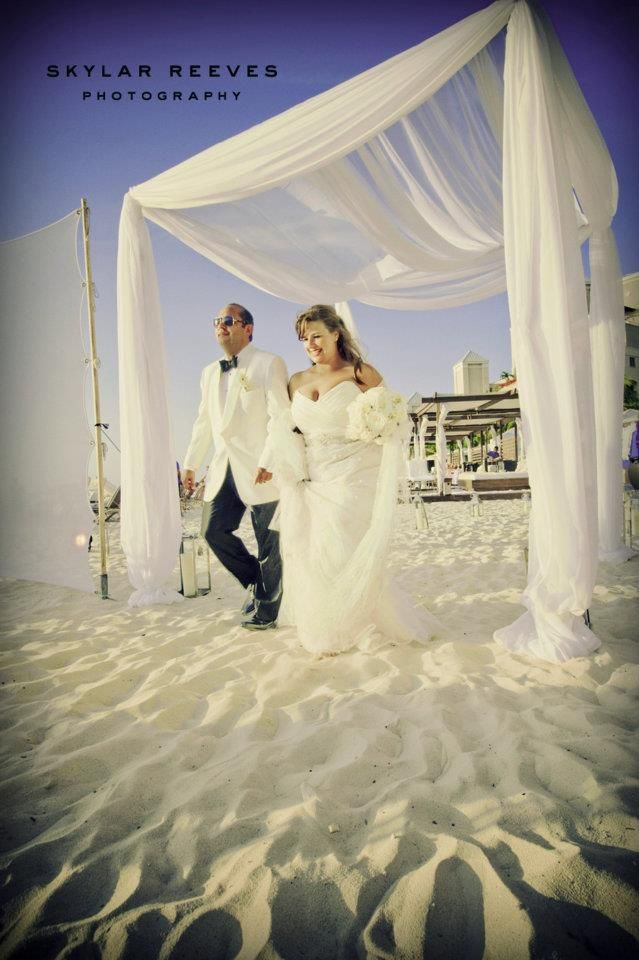 Seven Mile Beach wedding archway in Grand Cayman, by Celebrations Ltd.