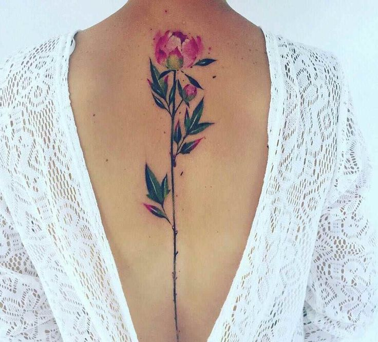 Elegant tattoo motives for spine of special charm   – Tattoo