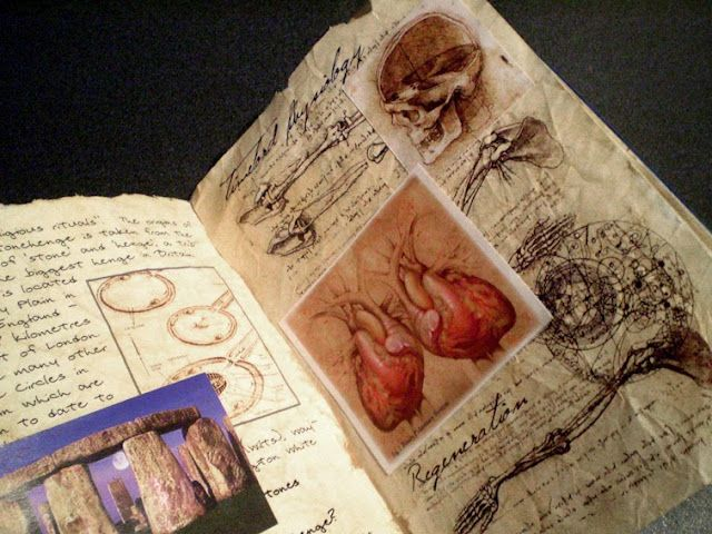 River Song's diary. Click through, there are a lot of awesome pages! Wish I could do something like that...