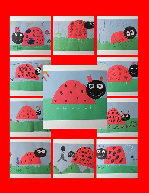 collage coccinelles
