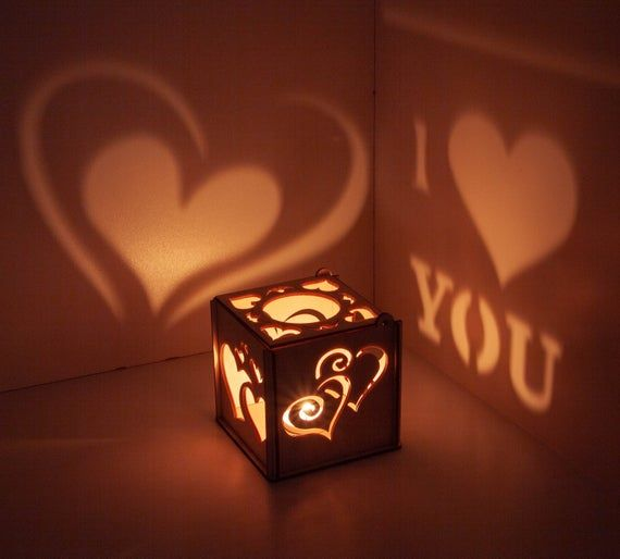 Light Up Message Box Romantic 1st Anniversary Special Gift for Him 2 Year Wedding Anniversary Gift for Her Valentines Day Personal Engraving