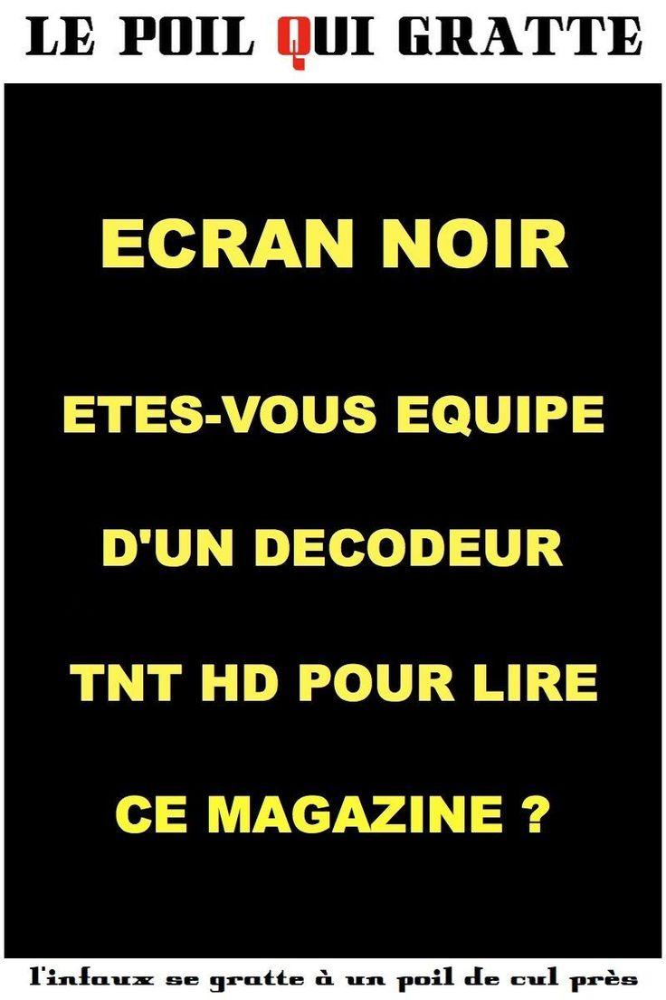 [LPQG Niouzes] Écran noir: Êtes-vous équipé dun décodeur TNT HD pour lire ce magazine?
