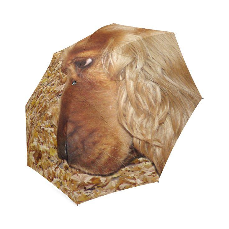 Dog Cocker Spaniel Foldable Umbrella