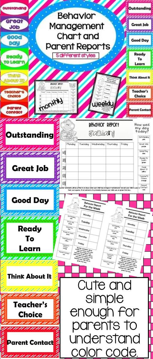 Cute and simple behavior management system. Easy to understand parent forms. Available in Spanish also!