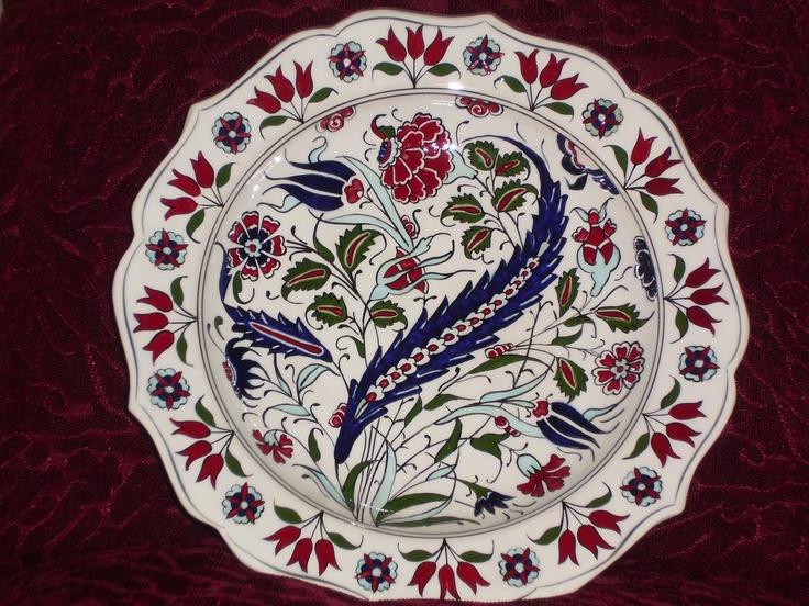 25cm ceramic plate handmade by Meral