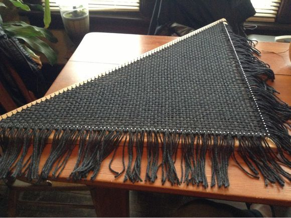 3' Triloom Shawl continuous bias method and Berroco Vintage Bulky to weave this…