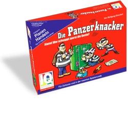 """""""Die Panzerknacker"""" ist Lernspiel, Rätselspiel & mehrstufiges Reaktionsspiel zugleich. Es liegen 18 Beutekarten in der Tischmitte. Diese gilt es zu erbeuten. Um die Beutekarten herum liegen 18 Panzerknacker-Karten, auf denen jeweils ein Rätsel abgebildet ist, das zur  Beute führt. Förderschwerpunkte: Kombinatorik, Konzentration, Reaktion  Kundenrezensionen:  """"Das Spiel trainiert mathematische Fähigkeiten jüngerer Kinder. Es ist  auch geeignet für Logik-Wettkampf-Fans""""  Quelle…"""