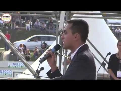 Luigi Di Maio (M5S) #Italia5Stelle al Circo Massimo - YouTube