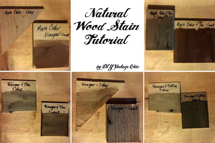 DIY Natural Wood Stain (apple cider vinegar, white vinegar, tea, coffee)