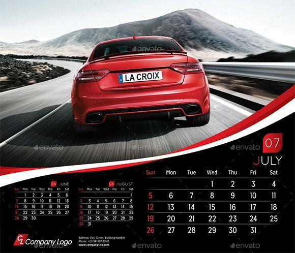 Desain Kalender Otomotif | Template Kalender Otomotif