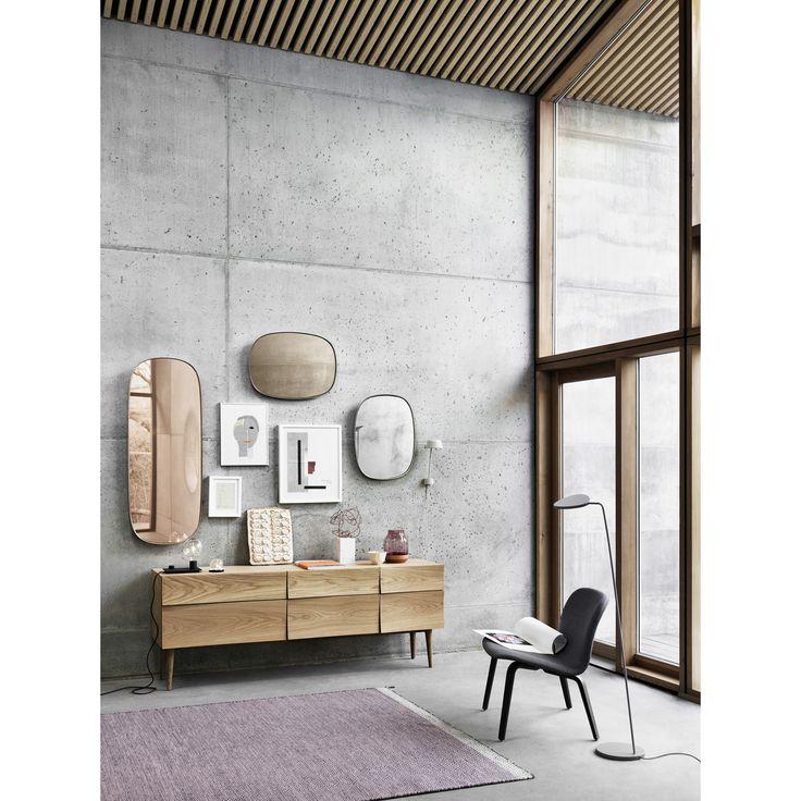 Framed Mirror speil S grå/klar – Muuto – Kjøp møbler online på Room21.no