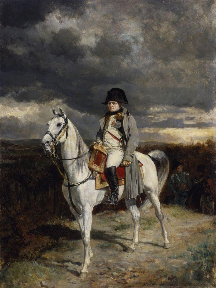 Jean-Louis Ernest Meissonier (French 1815–1891) [Academicism, Classicism, Military painter, War painter] Napaleon I 1814, 1862. The Athenaeum