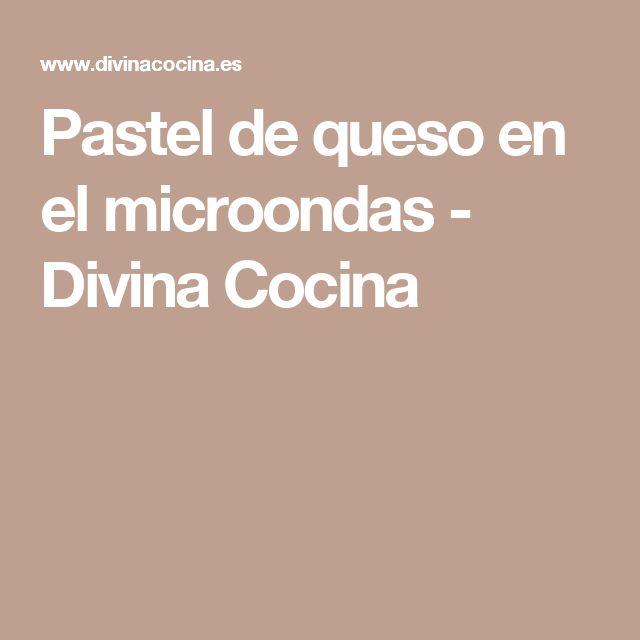 Pastel de queso en el microondas - Divina Cocina