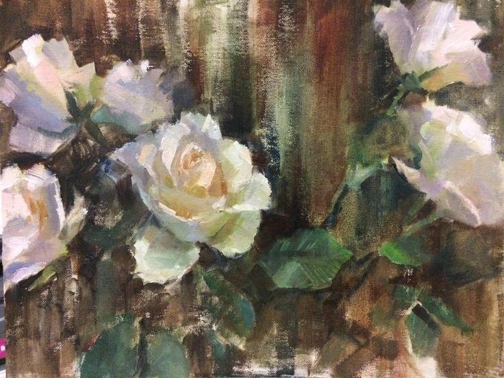 White Roses SOLD By Finnish Artist Heidi Hjort 2017