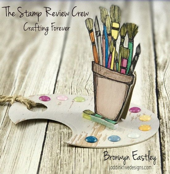 Crafting Forever, Easel Tag, Artist palette, addinktive designs, The Stamp Review Crew