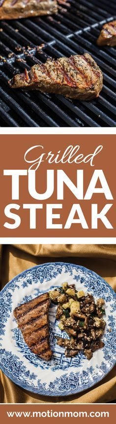 Grilled Tuna Steak marinated in the most delicious sauce! This is a perfect alternative to a beef burger. This is so easy and delicious!