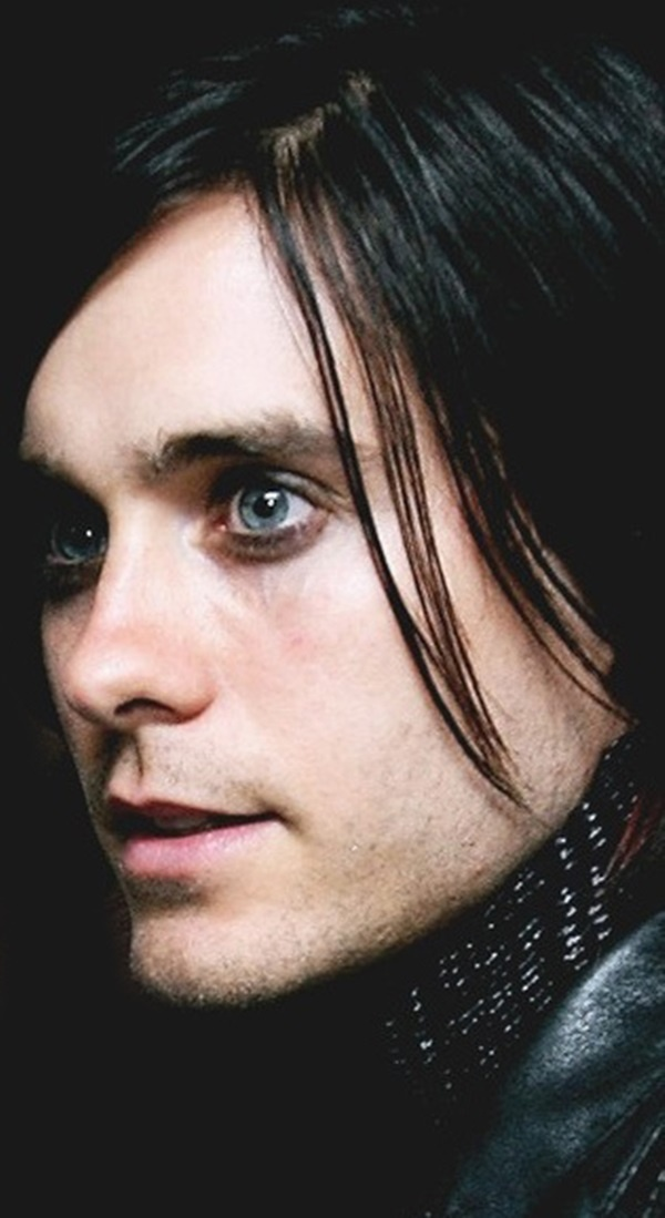 Jared Leto - He's beautiful, and I love 30STM lyrics. Look at those eyes. He grew up living a gypsy lifestyle, and he would break into people's houses with his brother just to see what it was like to watch television.