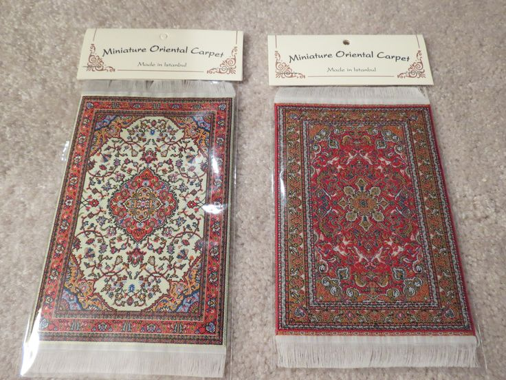 """From left to right are the 4"""" x 6"""" carpets SM1 and SM2."""