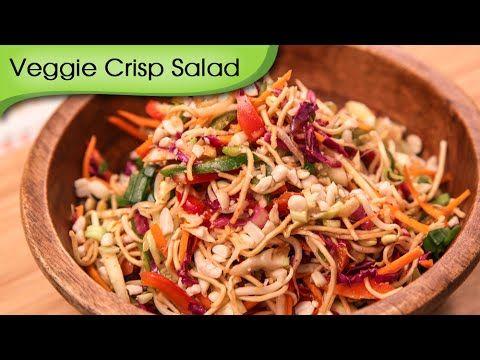 Veggie Crisp Salad - Quick & Healthy Vegetarian Salad Recipe By Ruchi Bh...