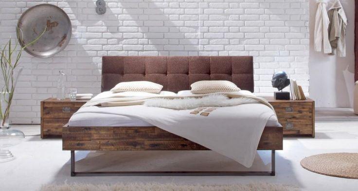 Bett FACTORY Rahmen LOFT Akazie massiv Metallkufen von Hasena1117,00 €
