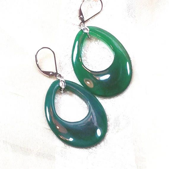 Aventurine Earrings, Handmade Jewelry by NorthCoastCottage Jewelry Design & Vintage Treasures. Weighing 50CT yet light and easy to wear, these hand-matched aventurine earrings are perfect for the holidays or any time of year. Particularly face-flattering attention-getters! Sterling