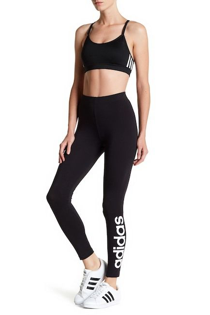 b305d358430fb adidas | Essential Linear Logo Leggings in 2019 | Closet | Womens ...
