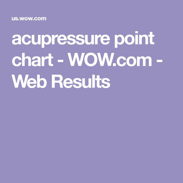 acupressure point chart - WOW.com - Web Results