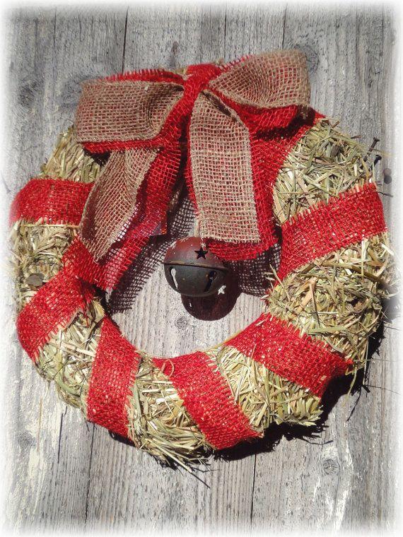 Ghirlanda di Natale / benvenuto in fieno con di RomantikPony