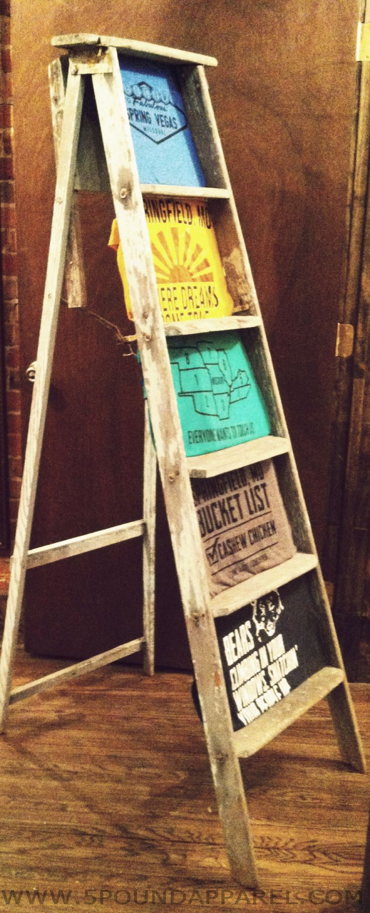 shirts in a ladder to display.