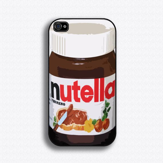 Oh heck yes! Nutella iPhone case for iphone 4 and 4S by iCaseSeraSera on Etsy, $17.99