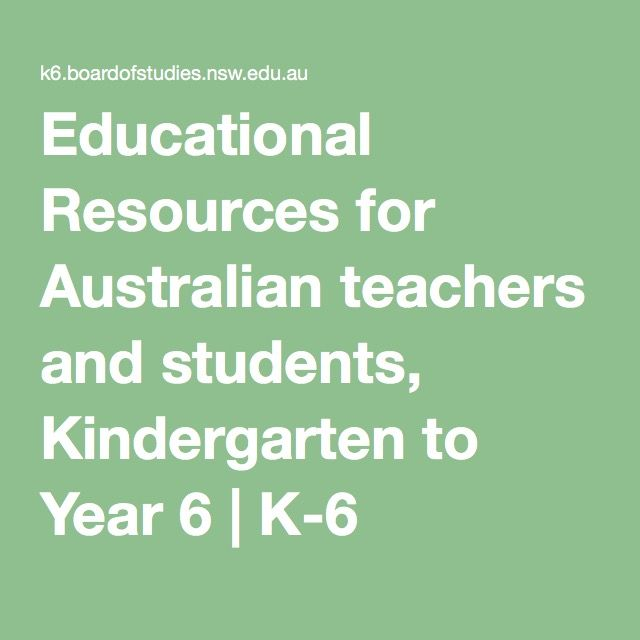 Educational Resources for Australian teachers and students, Kindergarten to Year 6 | K-6 Educational Resources | Board of Studies NSW
