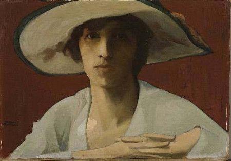 Γυναίκα στα Λευκά-Θεόφραστος Τριανταφυλλίδης (Theofrastos Triantafillides)