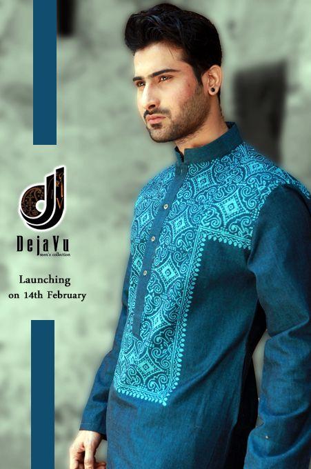 New Men Kurta Shalwar Designs 2014 For Boys By Deja Vu  (6)