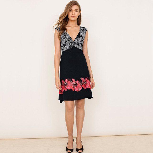 Ärmelloses Kleid, bedruckter Jersey DESIGUAL