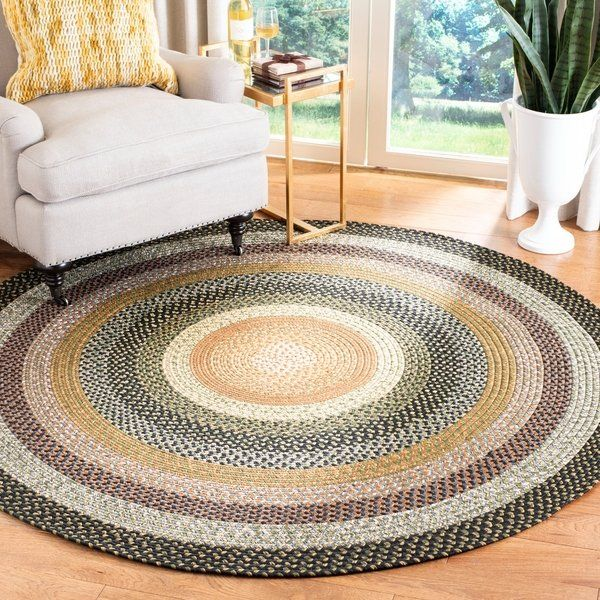 Shop Safavieh Hand Woven Indoor Outdoor Reversible Multicolor Braided Rug 8 X 8 Round On Sale Free Shipping In 2020 Country Rugs Round Braided Rug Braided Rugs