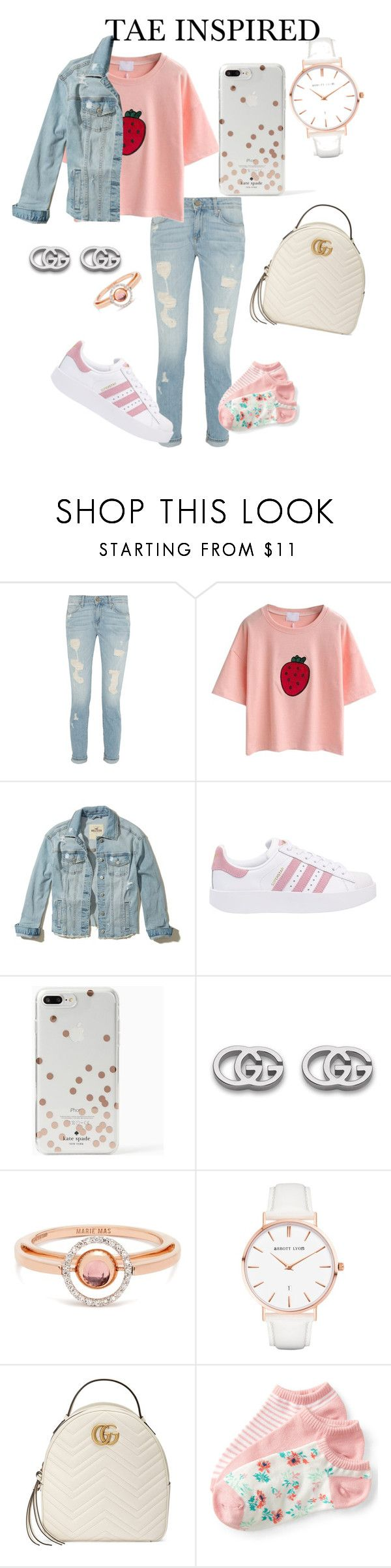 """BTS INSPIRED OUTFITS"" by btsmyhearteu on Polyvore featuring Hollister Co., adidas Originals, Kate Spade, Gucci, Marie Mas, Abbott Lyon and Aéropostale"